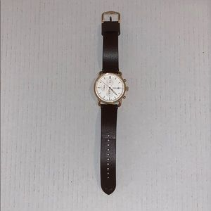 Men's Fossil Watch Brown Leather Rose Gold